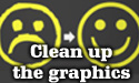 Clean up the graphics